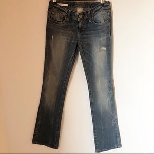 Decree Distressed Bootcut Jeans - Size 7